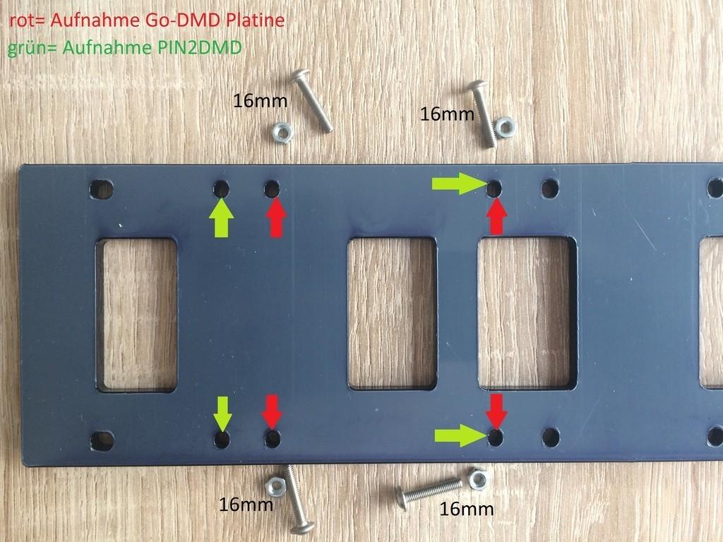 Controller-Lochverteilung der Grundplatte 1