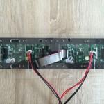Montage der Powerkabel sowie rechte Seite des Flachbandkabel